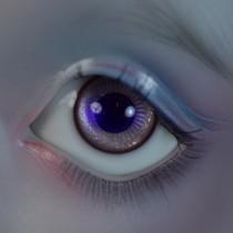 20mm - Iridescent Mauve & blue