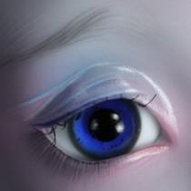 18mm - Bleu roi pailleté